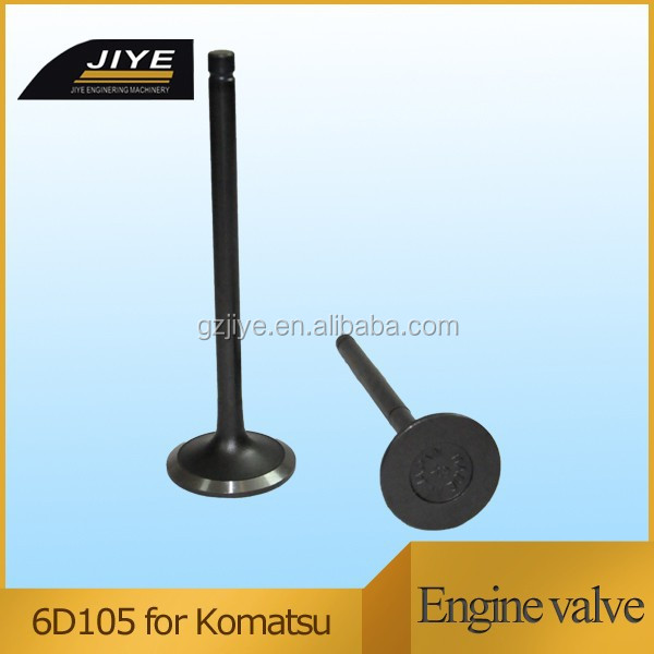 For diesel engine parts 6D105 Engine valve IN:6136-41-4110 EX:6136-41-4211