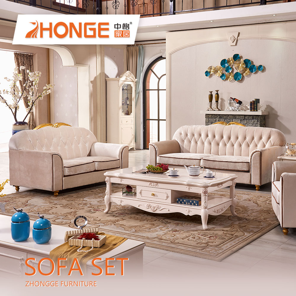 Home new style designs wooden frame sectional sofa living room furniture fabric sofa set