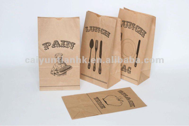 Custom paper bread bags