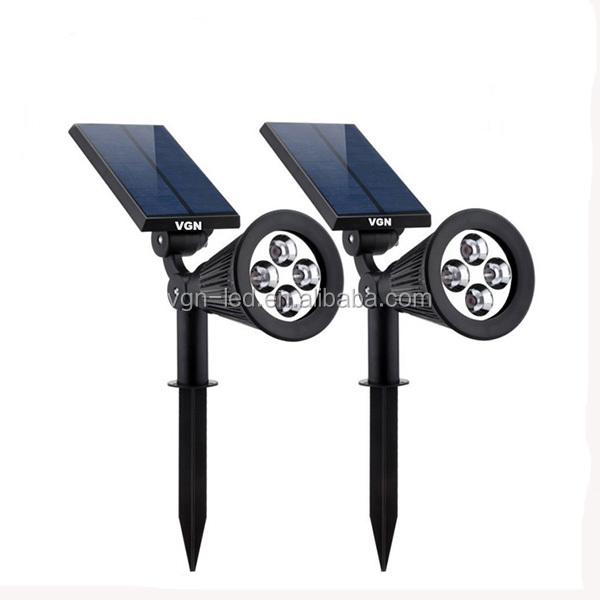 CE outdoor garden light solar waterproof 4 LED wall solar lawn light with motion sensor