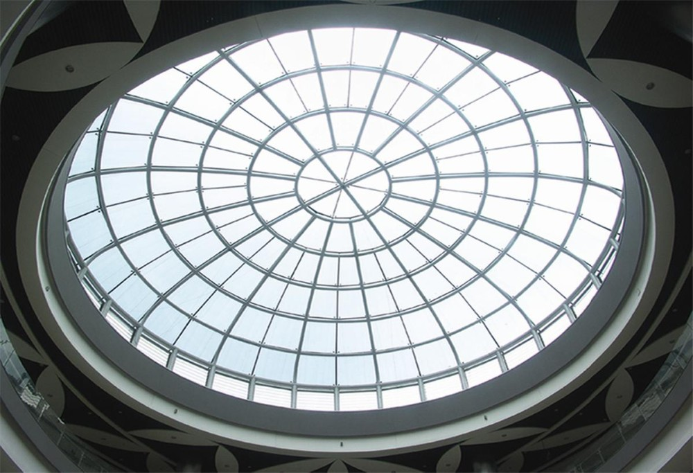 Steel Industrial Buildings Space Frame Structural Glass