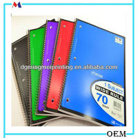 notebook template 20 Wide Ruled 1 Subject Spiral Bound 70 Micro Perforated Page Notebook