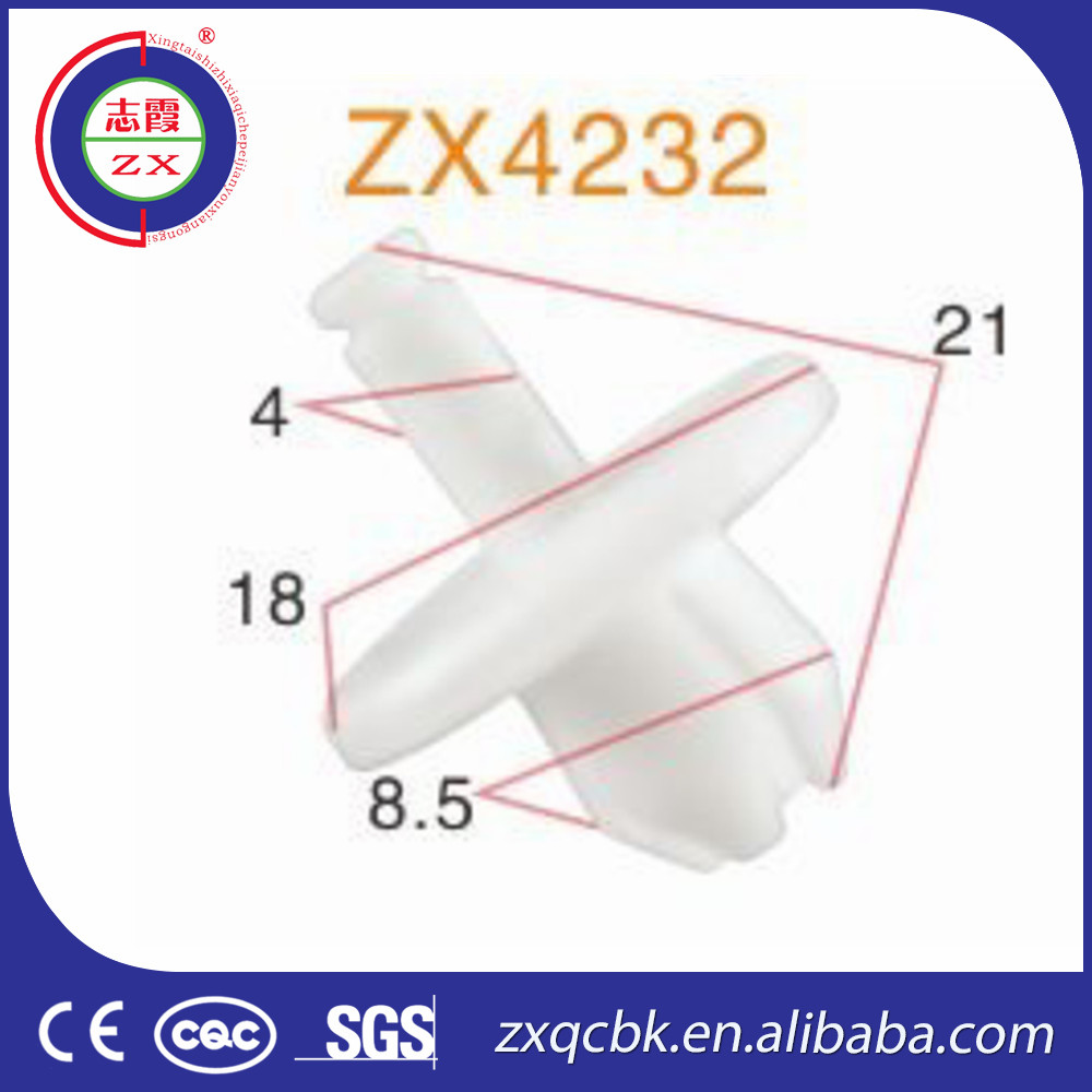ZX-Brand cheap price hot sale auto spare parts / China auto clips suit for 95% car / Plastic parts auto clips