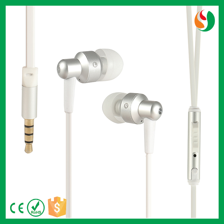 Hot selling quality wired metal phone hands free earphone