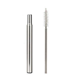 Telescopic Metal Straws New Product Ideas 2019 Kitchen Bar Gadget Portable Stainless Steel Juice Coffee Travel Drinking Straw