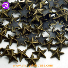 Stervorm laag lood Messing Hot Fix Studs metallic flat back studs voor schoenen