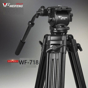 WF718 Professional Video Tripod DSLR Camera Heavy Duty Tripod with Fluid Pan Head wholesale