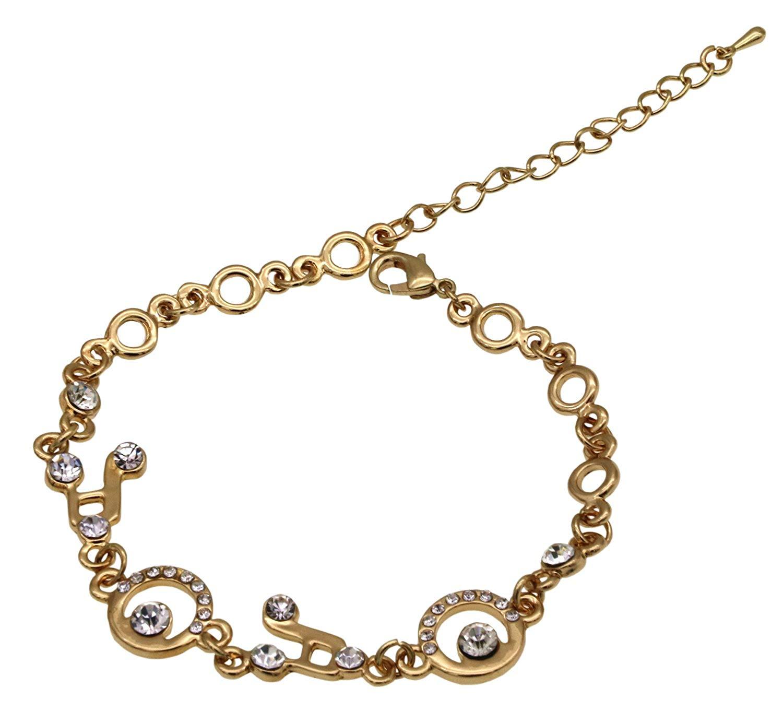 AnVei-Nao Women Girls Luxury CZ Music Note Charm Link Bracelets Fashion Gifts