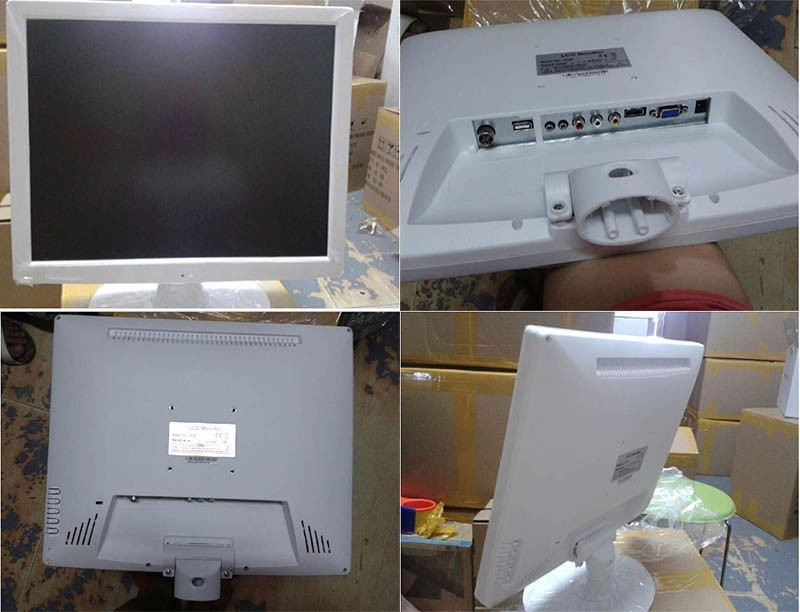 white color monitor 17inch av usb input lcd led monitor