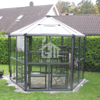 Luxury Aluminium Frame Hexagonal sun room sunroom glass house