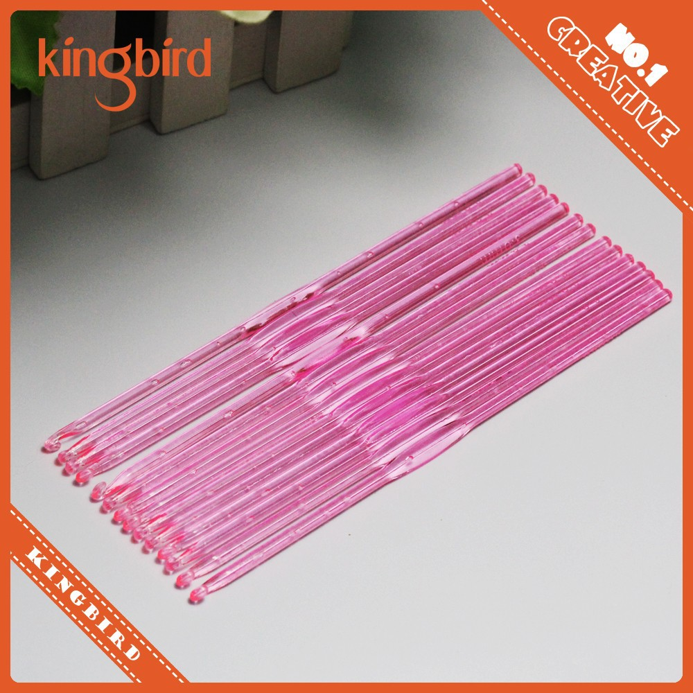 Beautiful Plastic Knitting Needles Crochet Hook Kit