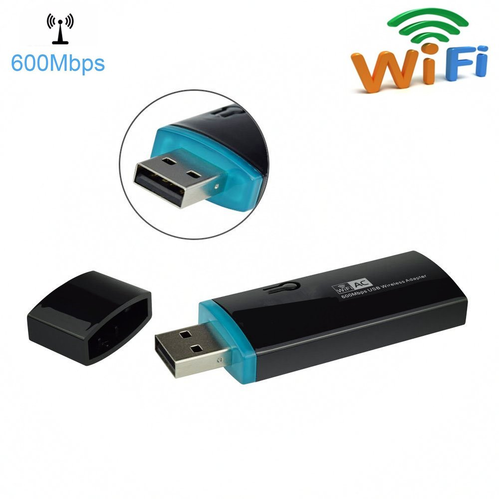 Urant AC600 USB Wifi Adapter Wireless Range Extender Amplifier Signal Booster Dual Band Network Mini Router AP High Speed USB Dongle With WPS Support Win10 Vista XP MAC OS Linux(433+150Mbps)