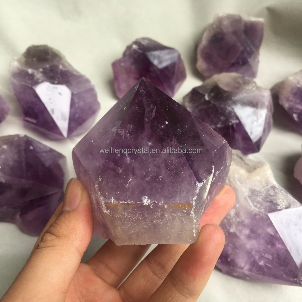 wholesale natural rough cut amethyst stones for home decoration