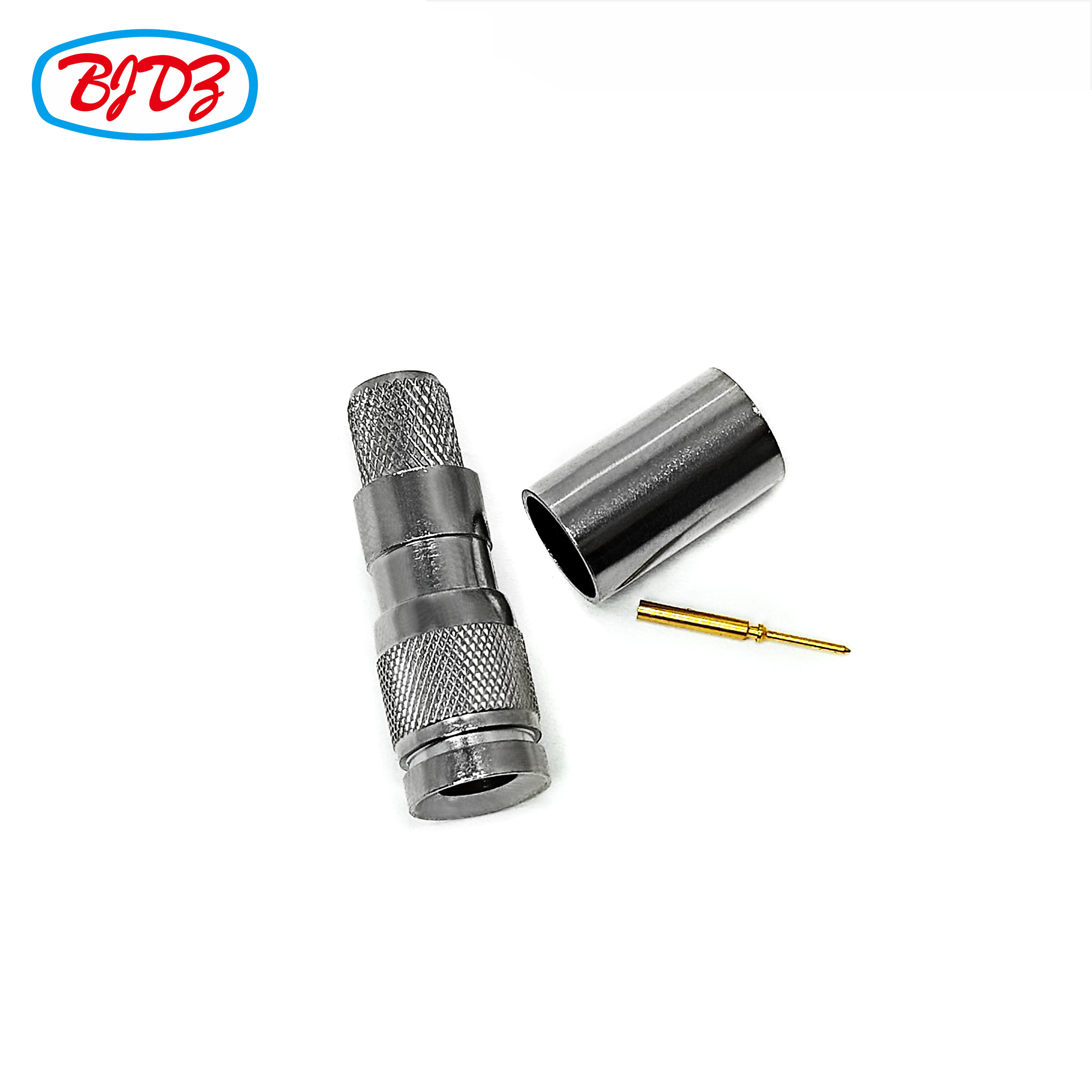 Precision Connector CC4 SAA Din 1.0/2.3 Male Plug Connector Crimp For RG59 Cable Pigtail Connector