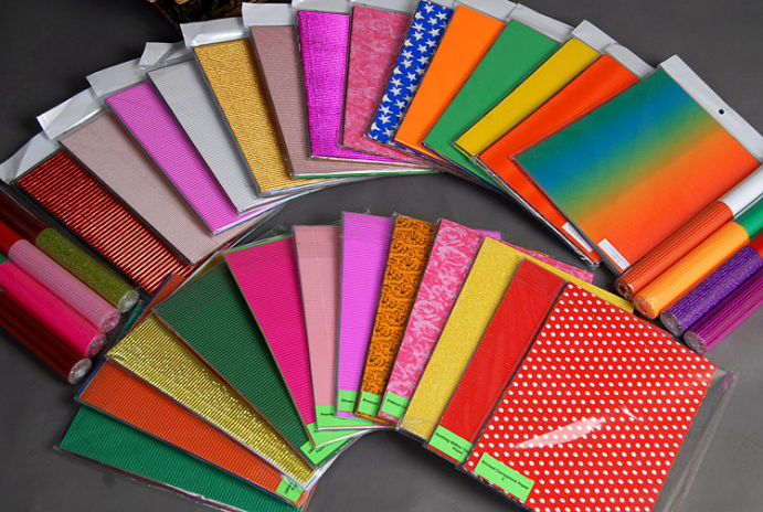 Fancy Metallic Corrugated Paper Colorful Cardboard Sheets For Kids