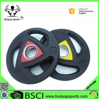 Tri-grip Rubber Coated Weight Plate