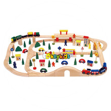 2017 Wholesale toddlers wooden model train sets funny kids wooden model train sets best children wooden model train sets W04C068