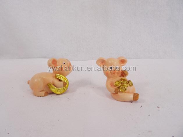 Custom Made Decorativi In Resina Pig Statua Per La Decorazione Domestica