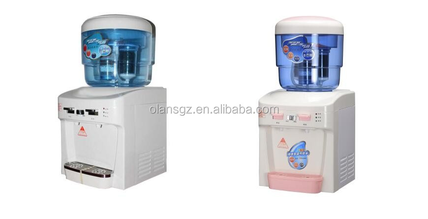 Mini Electronic water dispenser, alkaline/activated carbon filter/hot cold water dispenser for home and office use