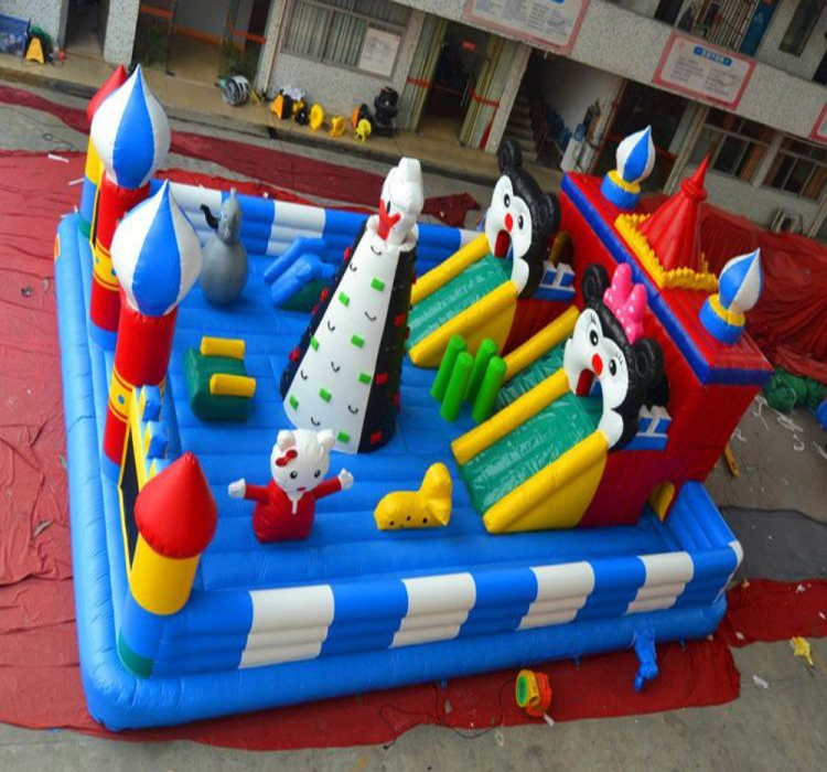 Customized Giant Inflatable Fun City Amusement Park inflatable fun city