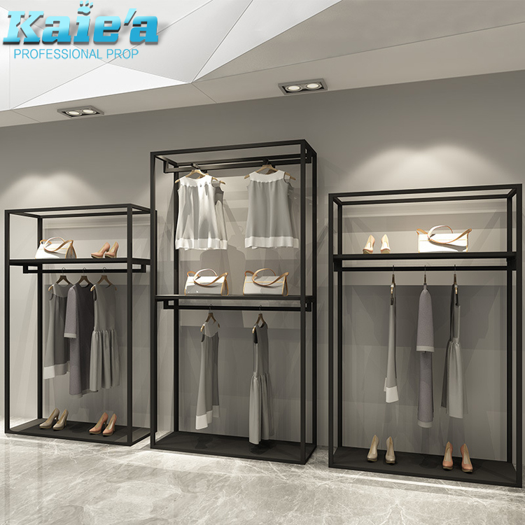 Retail Store Furniture Metal Wall Hanging Clothes Shop