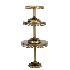 Metal Cupcake Holder Bronze Powder Coated Cake Stand For Restaurant Hotel Supply