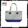 Foldable plain canvas bags with handle and outside pocket