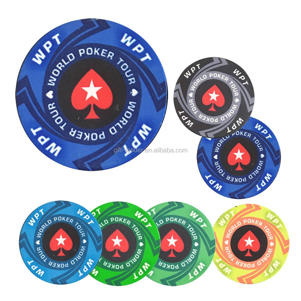 Souvenir new gift ultimate custom 40 mm standard size 14 gs lay fine sand sticker casino Las Vegas Monte Carlo lucky poker chips