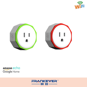 Frankever US Standard green new shape wifi plug socket with AMAZON ECHO