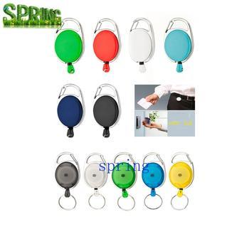 retractable badge reel keychain yoyo name id card holder work badge