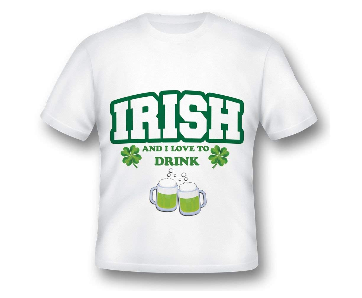 Personalized Irish Drinking Shirt, Shamrock Shirt, Four Leaf Clover, I love to Drink, St Patty Day, Green Clover, Irish Shirt, Day Drink Shirt, Lucky Shirt, ST. PATRICK'S DAY LUCKY SHIRT