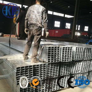 China steel tube factory supply high quality and competitive price galvanized rectangular steel pipe