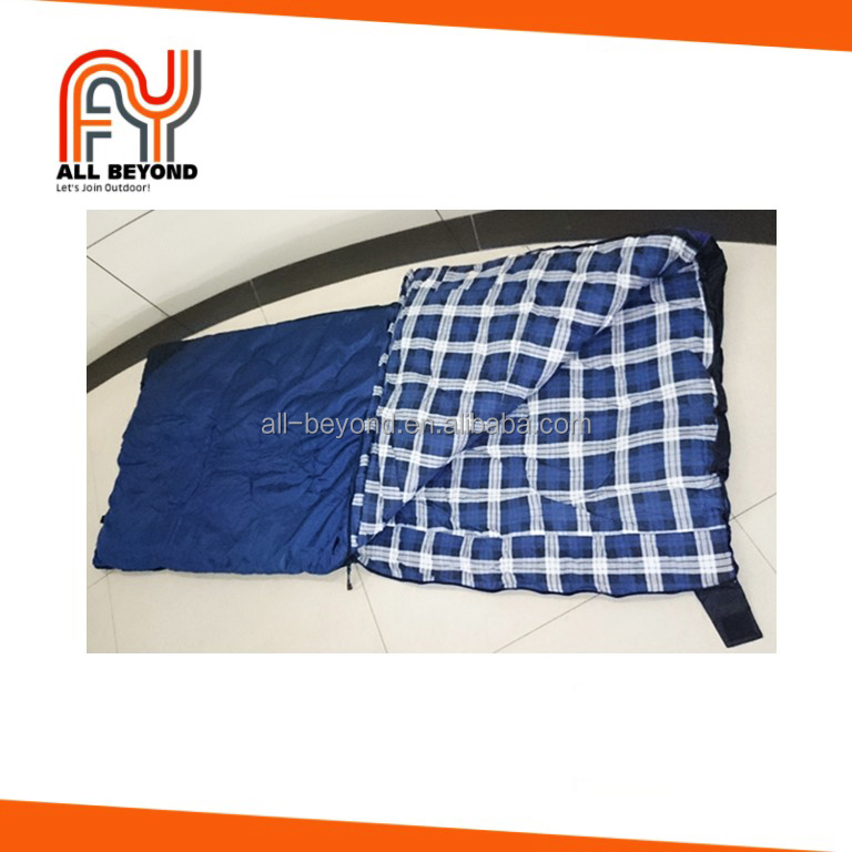 100% Cotton Flannel Envelope Outdoor Sleeping Bag