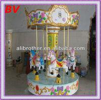 decoration for inner garden mini carousel children rides electrical games