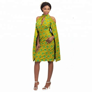 African Clothing OEM Supplier Latest Fashion African Kitenge Dress Design Sexy Dashiki Dress