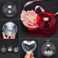 Hot Selling DIY Clear Christmas Decoration Plastic Transparent Ball