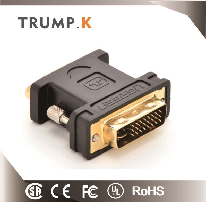 High quality DVI 24+1 male to VGA female adapter For LCD HDTV