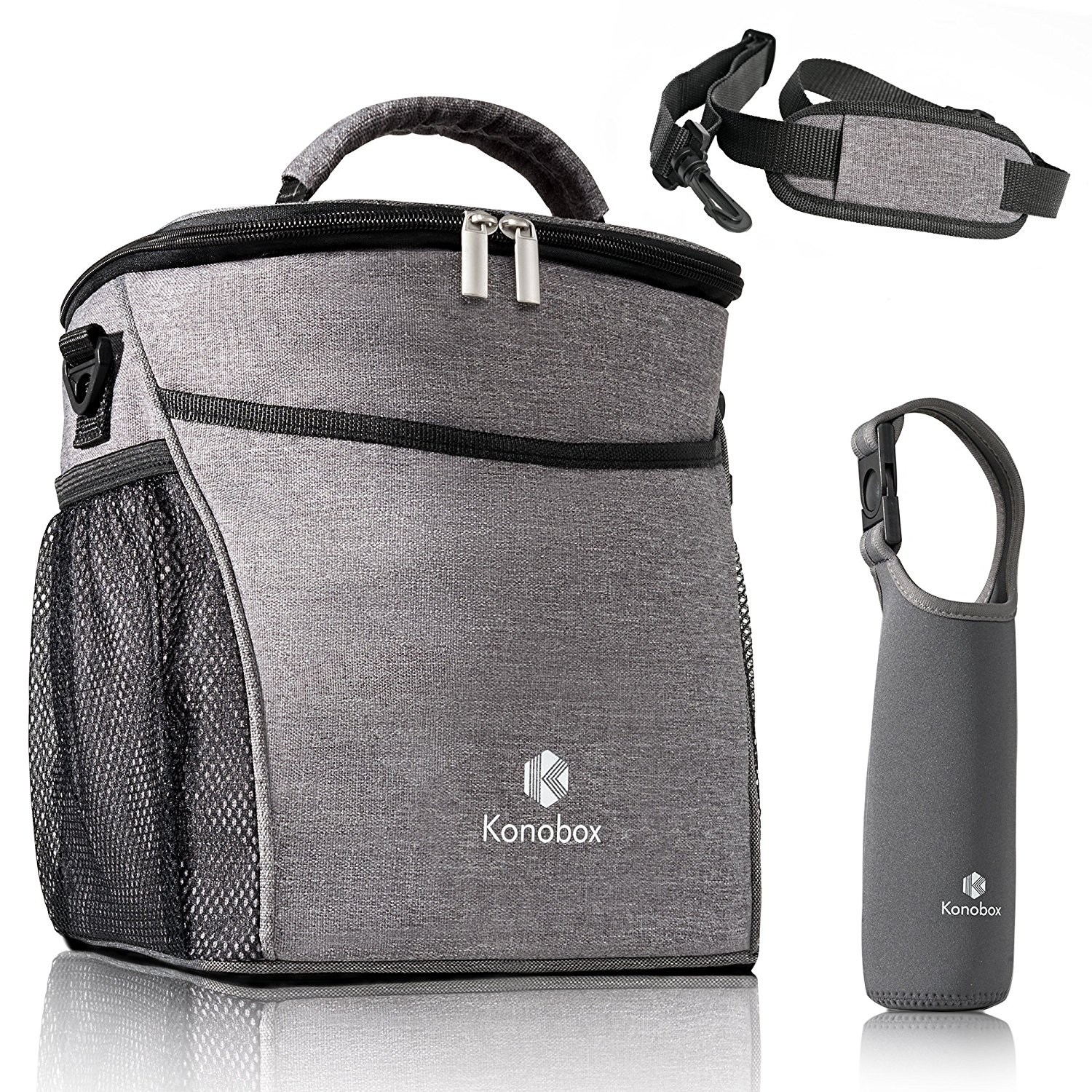 ca6a74b285b4 Buy Insulated Lunch Bags by Fineere | Lunch Bag with Bottle Holder ...