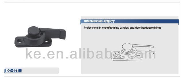 Aluminum sliding window crescent sash lock