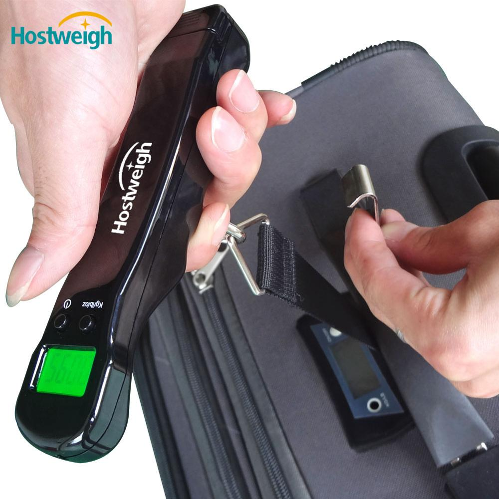 Digital Luggage Scale - 110lb / 50kg Weighing Capacity - Battery Free Technology