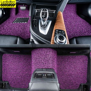 hot sells universal purple easy cleaning pvc coil car noodle foot mat in rolls