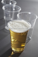 Disposable Plastic Beer Drinking Glass