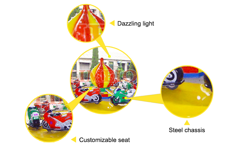 Amusement park rides indoor used motor racing rides