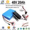 New Power e bike electric bike lithium battery 48v 20ah PVC Case + 9S 15A BMS Board + 2.0 Charger