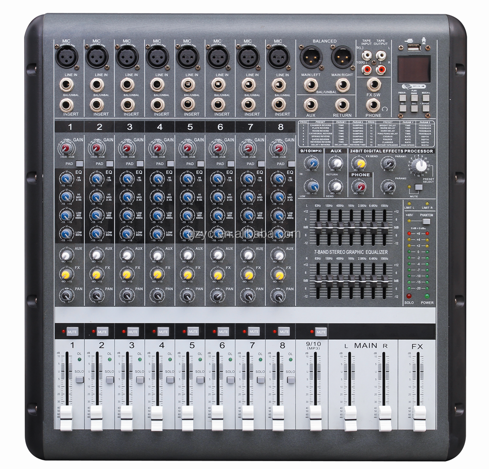 best selling digital mixer 16 channel professional audio mixer digital mixer pmr806d buy. Black Bedroom Furniture Sets. Home Design Ideas