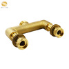 "intelsheng Two-ways 1""-4""inch brass natural color manual water manifolds"
