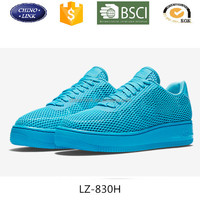 women air platform casual sports shoes blue breathable mesh sneaker