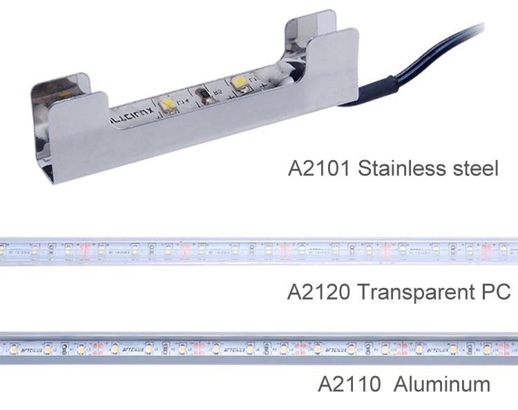 Mensole In Vetro Luminose.In Acciaio Inox Mensola Clip Di Vetro Led Luce Per Vetro Armadi