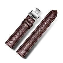 DOM для мужчин и женщин ремешок для часов 18 мм 20 мм 22 мм ремешок из крокодиловой кожи аллигатора Бабочка Пряжка браслет аксессуары браслеты(Китай)