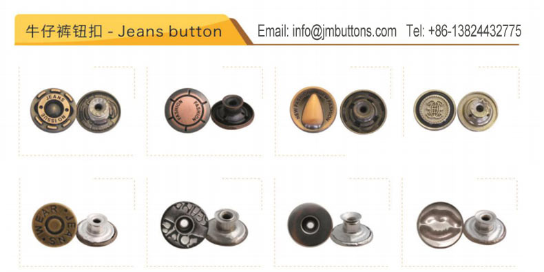 Custom Made Metal Jeans Denim Logo Kleur Znic Legering Messing Decoratieve Knoppen Klinknagels Studs Voor Lederen Kleding Jeans Kledingstuk